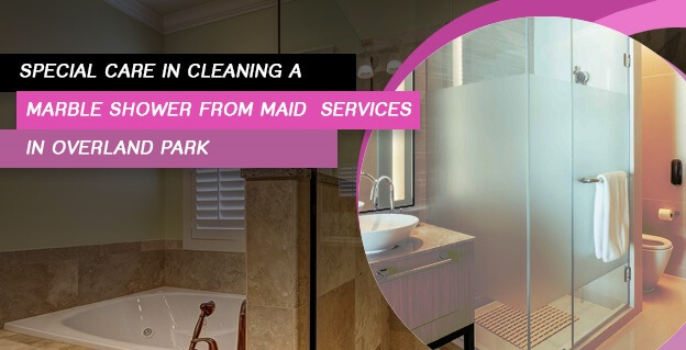 Special Care in Cleaning a Marble Shower from Maid Services in Overland Park